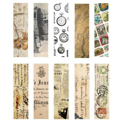 30pcs/Box Vintage Bookmark Paper Book Mark Magazine Label Memo Office Stationery 10
