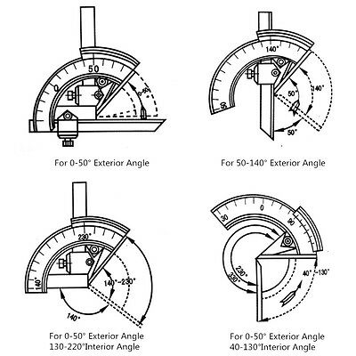 320 Degree Universal Bevel Protractor Angular Dial measuring inner&outer angle 5