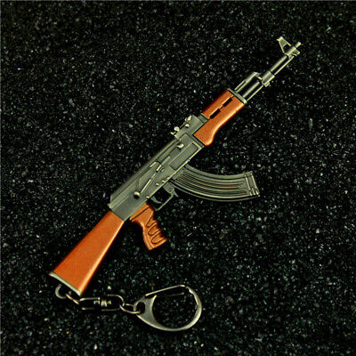 1//8 TOY WW2 PUBG HK416 gun BattleField4 Battleground Metal keychain