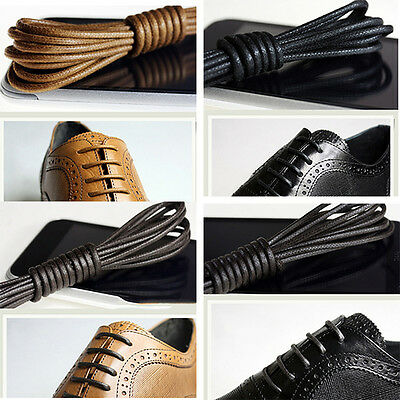 Multi Color Cotton Waxed Round Cords Strings Dress Shoe Laces 75//85//90cm /_WK TOC