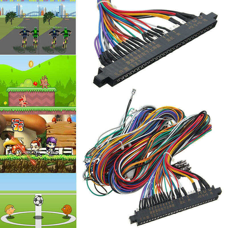 lot 10 jamma wiring harness multicade 60in1 arcade game. Black Bedroom Furniture Sets. Home Design Ideas