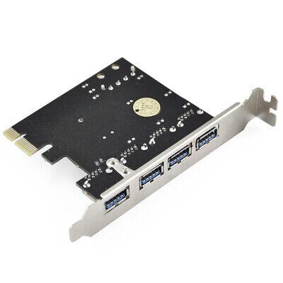 PCI-E PCI Express to 4 Port USB3.0 USB 3.0 Hub Controller Card Adapter 7