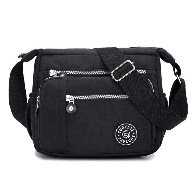 Women Canvas Handbag Pocket Shoulder Bag Travel Messenger Crossbody JJ 5