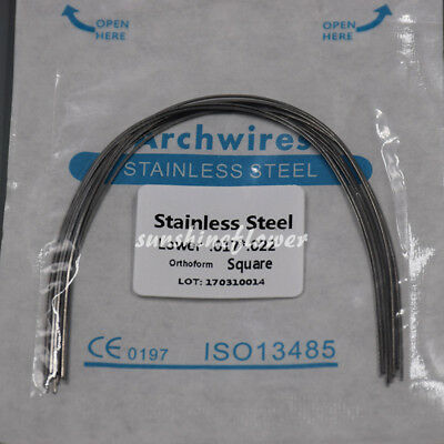 1 Pack Dental Ortho Stainless Steel Arch Wire Rectangular Square/Ovoid/Nature 3