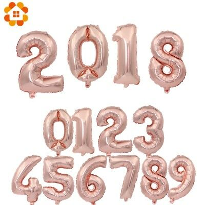 """32''/40"""" Number Shape Helium Foil Ballons Wedding Party Balloons Birthday Decors 8"""
