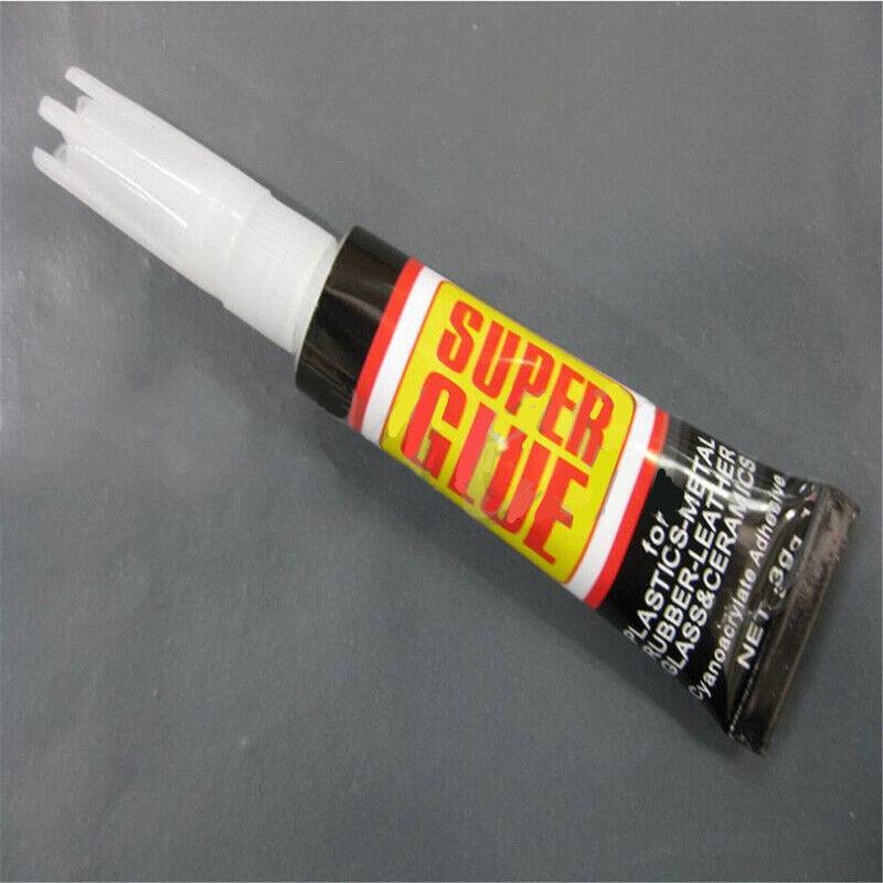 6/12pcs Super Glue Colle Rapide Adhésif Extra-Forte Cyanoacrylate Plastique Cuir 6