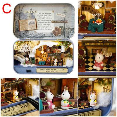 DIY Dollhouse Miniature Furniture 3D Doll House Kit Theater Box New Children Toy 8