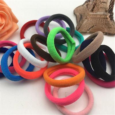 Lots 50/100Pcs Girls elastic hair ties band rope ponytail bracelets scrunchie 11