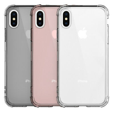 For iPhone 11 Pro XS Max XR X 8 7 6 5 Shockproof Transparent Silicone Case Cover 3