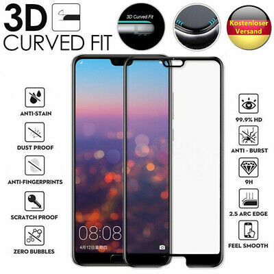 3x Schutzglas Huawei | P20 Mate 20 Lite Pro | Panzerfolie Schutzfolie ECHTGLAS 2