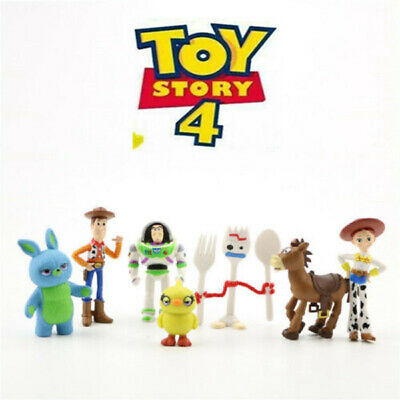 Toy Story 4 Fokry Woody Buzz Lightyear Jessie LOT DE 7 FIGURINES JOUET CADEAU 2