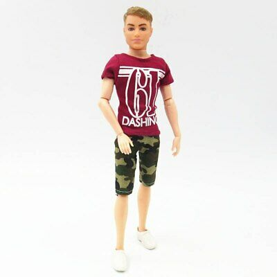 1SET 1/6 Casual WearShirt & Trousers Shorts For Ken Doll Outfits Pants Clothes 2