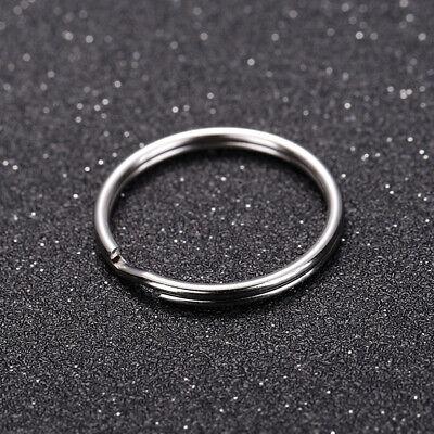 100Pcs Key Rings Chains Split Ring Hoop Metal Loop Steel Accessories 25mm |USA 10