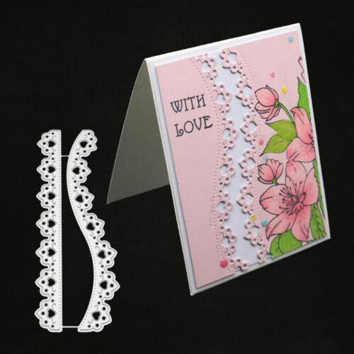 2pcs Lace Cutting Dies DIY Stencil Scrapbooking Album Paper Card Embossing Craft 2