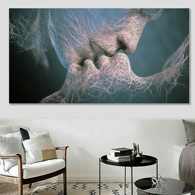 Abstract Wall Art Painting Love Kiss Poster Wall Pictures Print Home Decoration 3