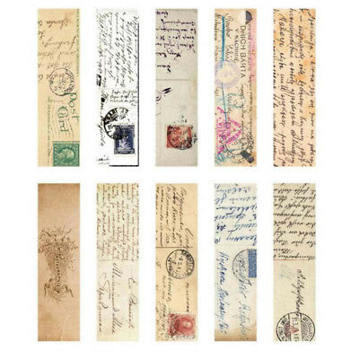 30pcs/Box Vintage Bookmark Paper Book Mark Magazine Label Memo Office Stationery 9