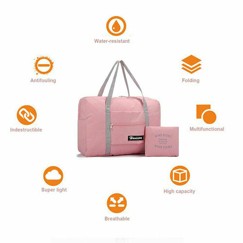 Foldable Large Duffel Bag Luggage Storage Bag Waterproof Travel Pouch Tote Bag 5