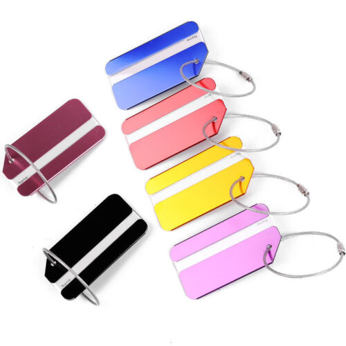 New 1PC Aluminium Luggage Tag Suitcase Label Name Address ID Bag Baggage Tag Hot 10