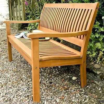 Enjoyable Rowlinson Hard Wood Garden Bench Two Seater Outdoor Seating Spiritservingveterans Wood Chair Design Ideas Spiritservingveteransorg