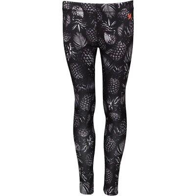 Girls Hurley Sublimation Leggings Size L 152-158Cm (12-13 Years) Black/ White 2