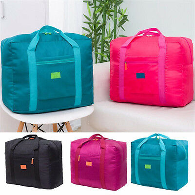 Big Foldable Travel Bag Storage Luggage Carry-on Organizer Hand Shoulder Duffle