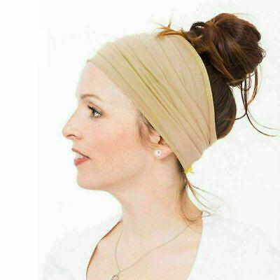 Women Men Yoga Sports Wide Headband Elastic Boho Hair Band Head Wrap Wristband