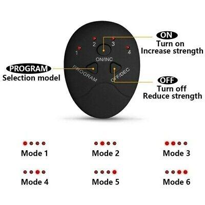 EMS Entrenador Abdominal Estimulador Muscular Inalámbrico recargable USB Nalgas 10