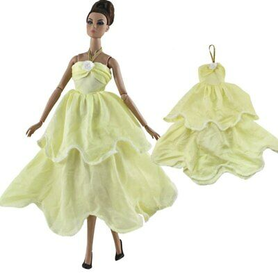 """Light Yellow Fashion Dress For 11.5"""" 1/6 Doll Clothes Outfits Princess Gown Toy 2"""