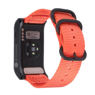 Replacement Nylon Canvas Watchband Wrist Band Strap For Garmin VIVOACTIVE HR UK 7