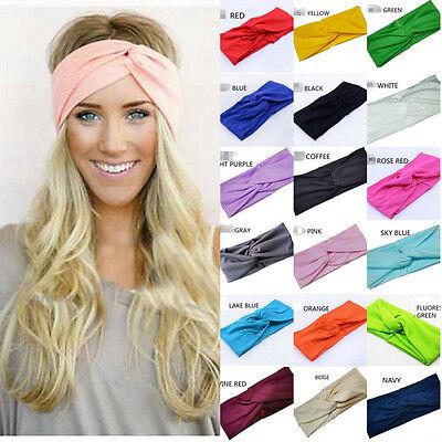 1pc Twist Turban Headband for Women Bows Elastic Sport Hairbands Yoga Head Band 2