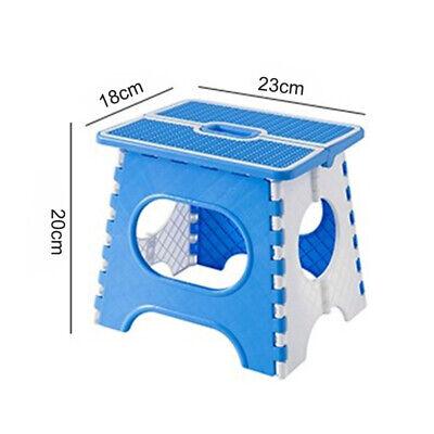 Plastic Multi Purpose Folding Step Stool Home Kitchen Easy Storage Foldable 2