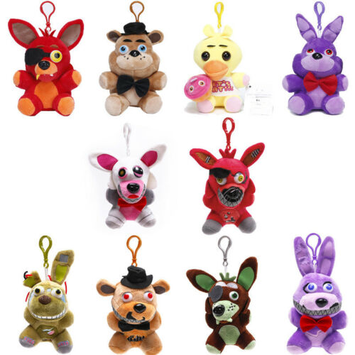 """Five Nights at Freddy's FNAF Horror Game Plush Doll Kids Plushie Toy 4.7"""" 7""""10"""" 6"""
