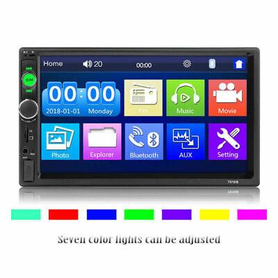 "7 ""Doppel Autoradio Stereo MP5 MP3 Player 2Din Bluetooth USB FM AUX IN + Rahmen 3"