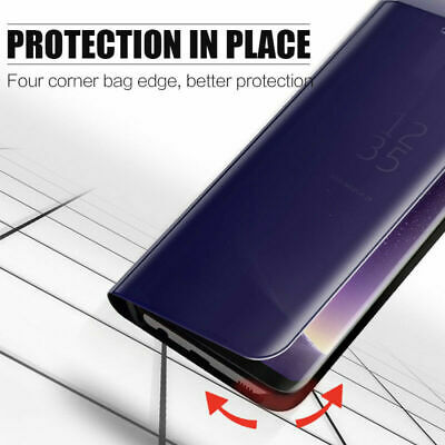 For Xiaomi Redmi Note 7 6 5 Pro 5A 4X Smart Mirror Leather Flip Stand Case Cover 6
