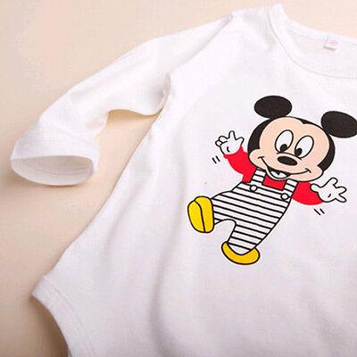 3pcs Newborn Baby Boys Girls Kids Cartoon Romper Hat Pants Bodysuit Outfits Sets 8