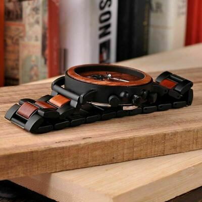 Luxury Design BOBO BIRD Japan Quartz Wrist Watch Men Women 44mm Gift Box Wood 5