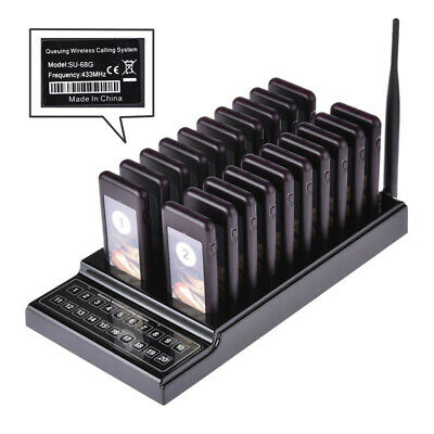 Paging Wireless Call Restaurant Pager Calling System Guest Vibration LED Buzzer 5