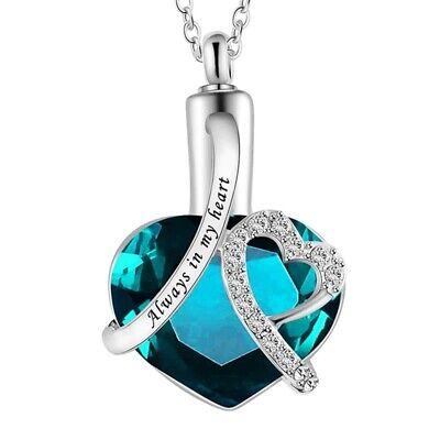 Urn Necklace Cremation Jewellery Ashes Pendant Locket Keepsake Memorial Funeral 2