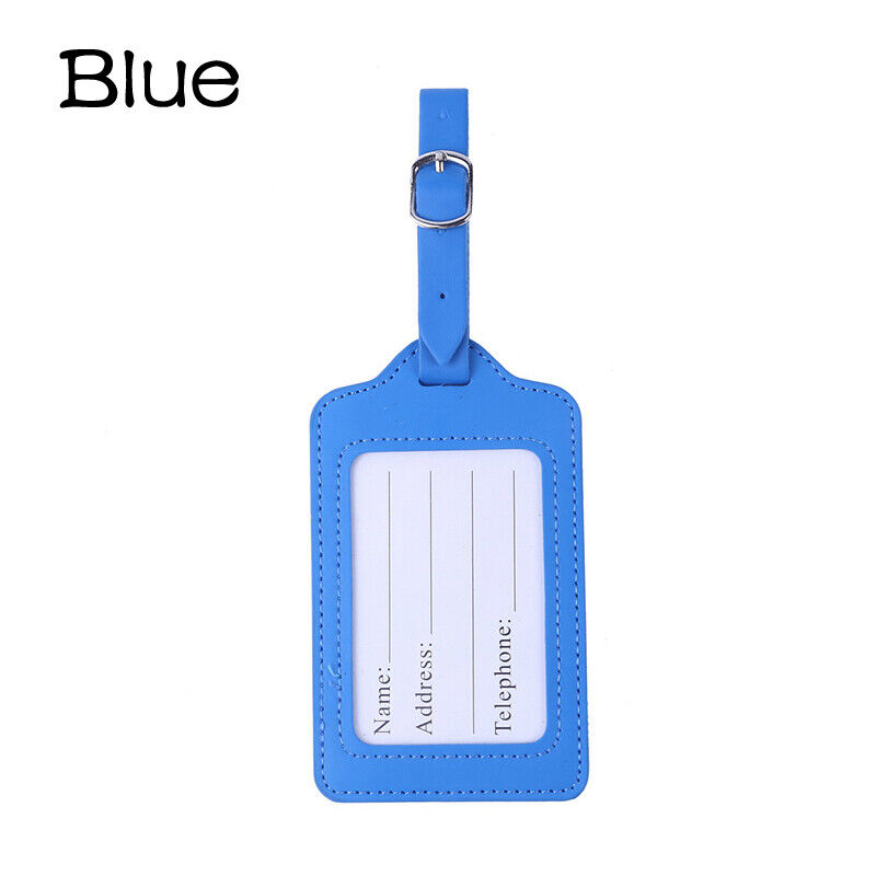 Leather Luggage Tags Suitcase ID Card Name Label Baggage Address Tag Travel 1pc 6