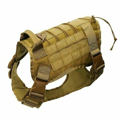 US Police K9 Tactical Training Dog Harness Military Adjustable Molle Nylon Vest 10