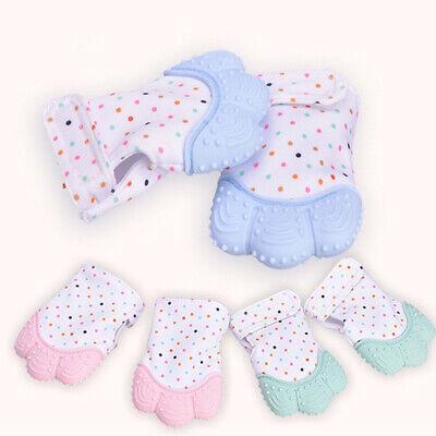 Silicone Baby Teether Teething Bite Mitten Glove Safe BPA Free Chew Dummy Toy AU 4