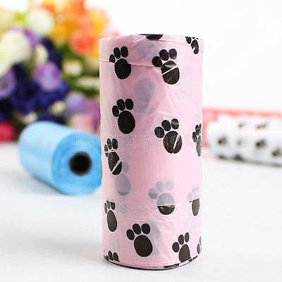 5Rolls Pet Poo Poop Bag Dog Cat Waste Garbage Pick Up Clean Refill Garbage Bags 10
