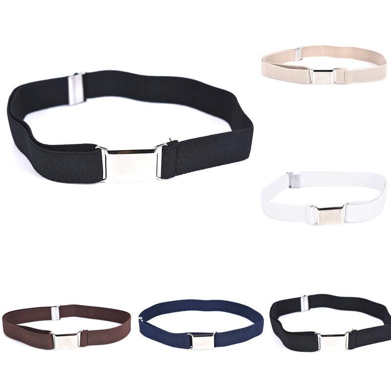 Children Solid Color Unisex Canvas Belts Boys Girls Elastic Belt Adjustable MC 4