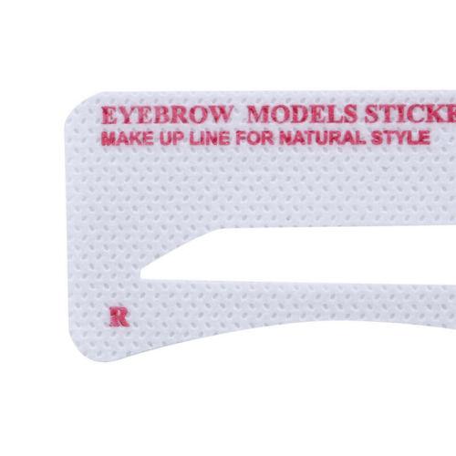 Thrush card Grooming Brow Stencils Eyebrow Template Stickers 24 pcs 1 Set LI 2