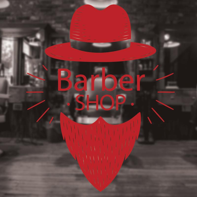 Barber Shop Sign, Barbershop window sign, hair salon window decal 2