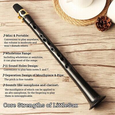 Mini Pocket Saxophone Instrument Musical Portable Little Sax Alto Mouthpiece NEW 6