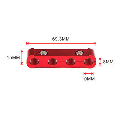 Red Aluminum Engine Spark Plug Wire Separator Divider Organizer Clamp Kit 10mm 2