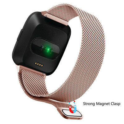 Milanese Loop For FITBIT VERSA Magnetic Stainless Steel Watch Band Strap S/L US 4