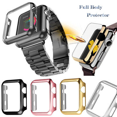 Stainless Steel Band Strap + Case Cover For Apple Watch Series 4 3 2 40mm 44mm 3