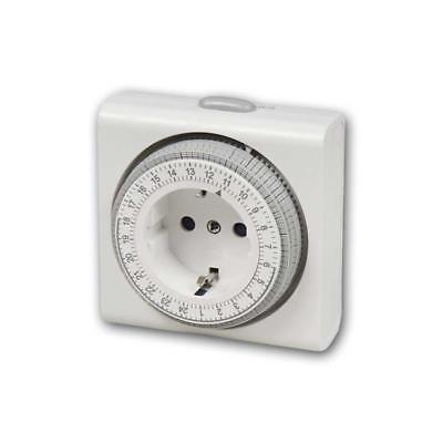 Zeitschaltuhr kompakt, analog, Schaltuhr, Zeituhr mechanisch 3680W Steckdose 24h 2